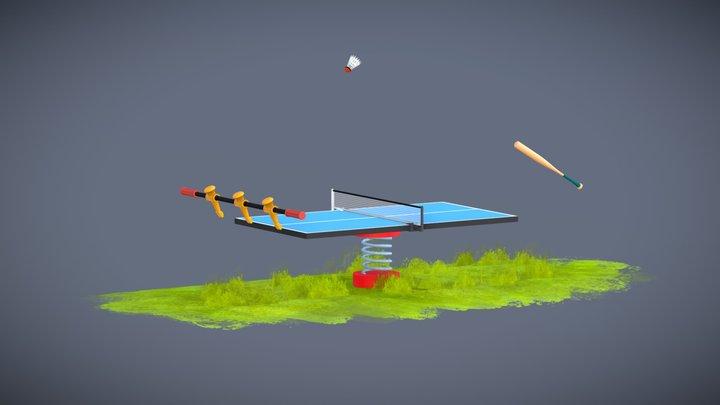 Sports Ball Rally Loop 3D Model