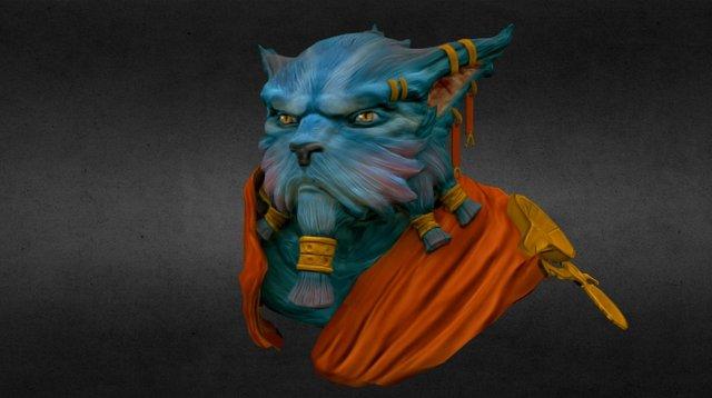 Wolf Warrior 3D Model