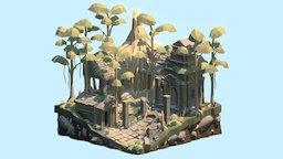 Jungle Temple 3D Model