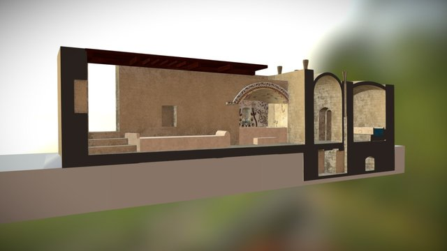 Karanis Bath Section 2 3D Model