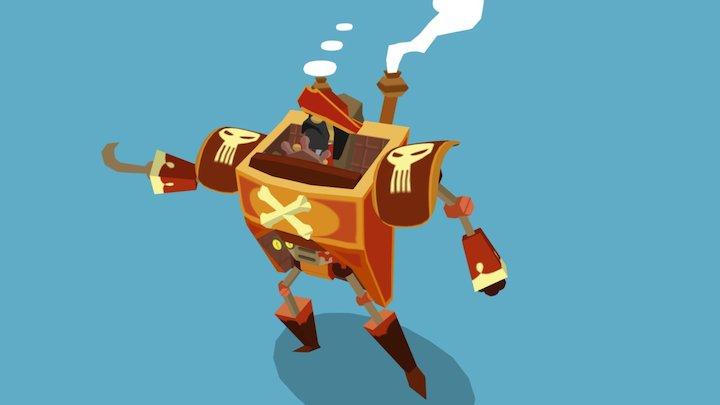 Pirate Mecha 3D Model