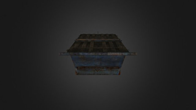Old Dirty Dumpster 3D Model