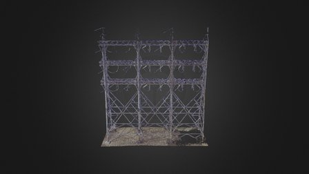 Transmission Tower 01: 50mm Point Cloud 3D Model