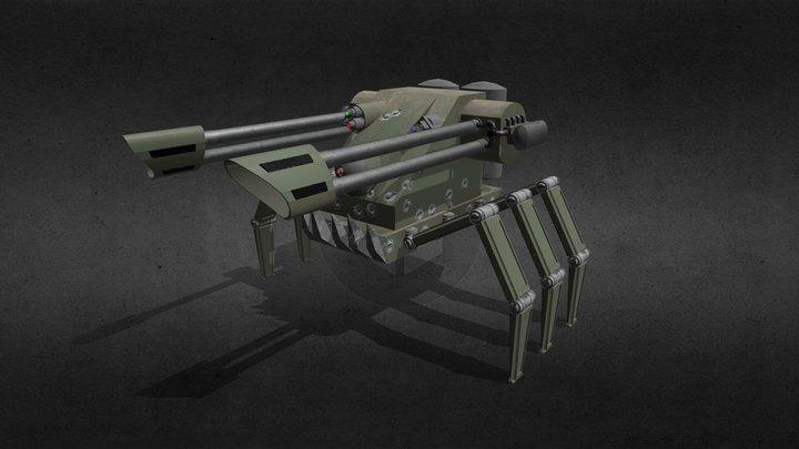 All terrain mobile turret 3D Model