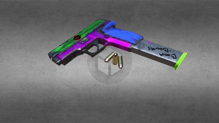 CrazyBaddie P229 3D Model
