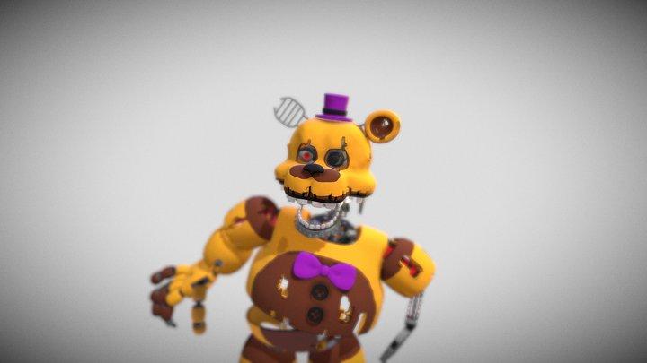 Destroyed Fredbear 3D Model