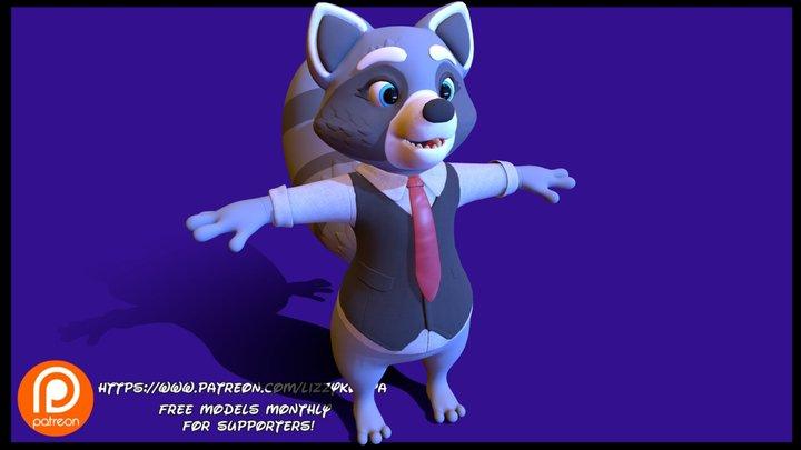 Plushie citizen raccoon 3D Model