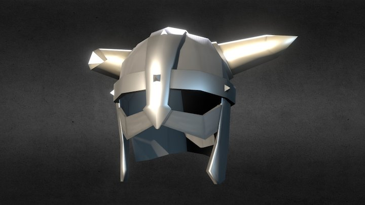 Low Poly Helmet 3D Model