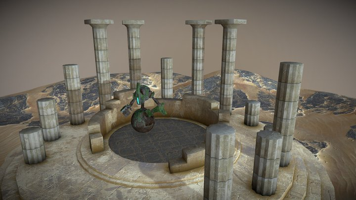 Rolling Automaton in Ruins 3D Model