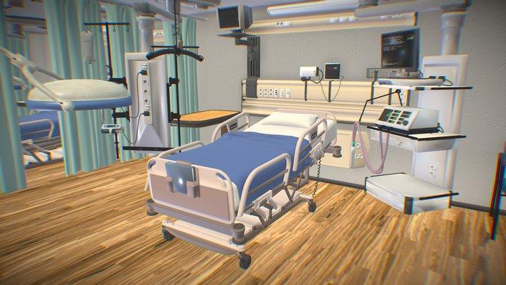 Clinic - Hospital room 3D Model