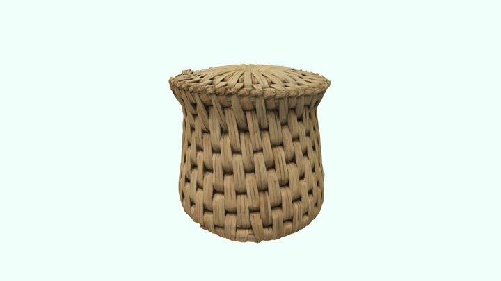 Natural fiber woven stool 3D Model