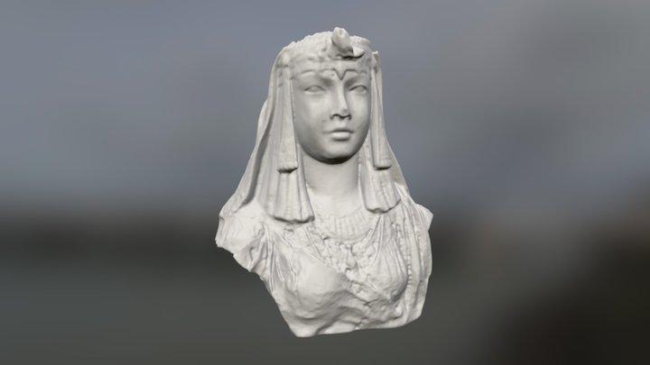 Egyptian Head Garden Statue 3D Model