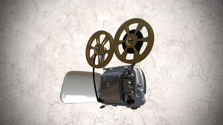 Proyector Zeiss Ikon Movilux de 8mm 3D Model