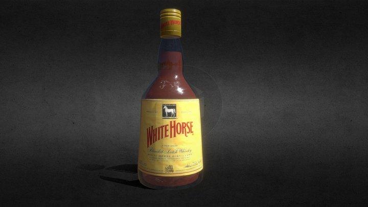 """Whisky """"White Horse"""" 3D Model"""