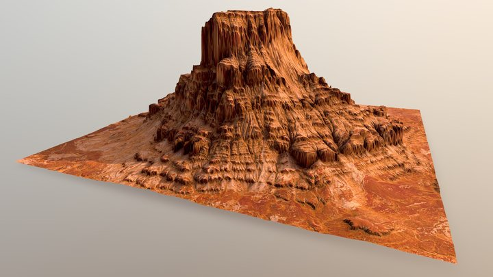 Sandstone Towers 3D Model