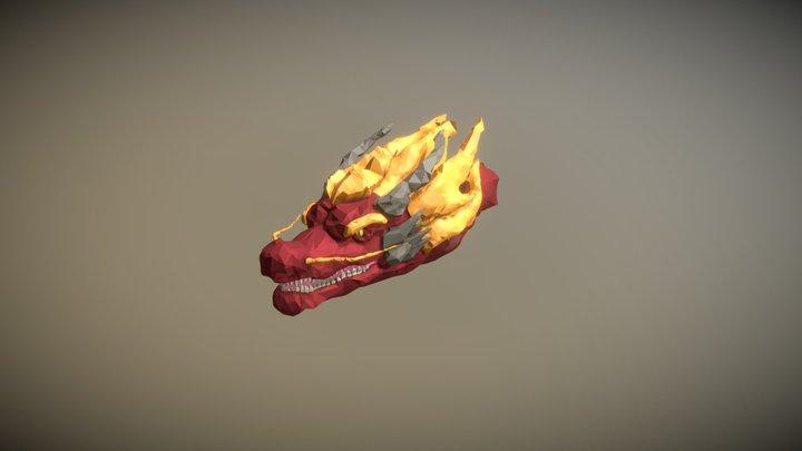 Low Poly Dragonhead 3D Model