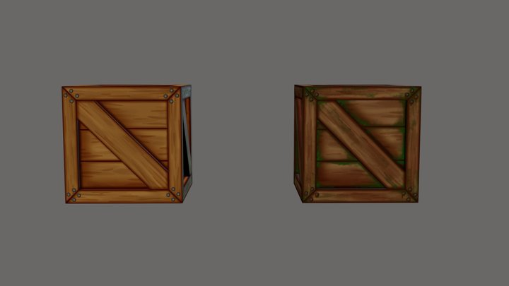 Crate 1 + Variant 3D Model