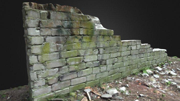 Small Old Brick Wall 3D Model