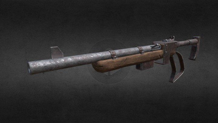 Rifle post apocalyptic 3D Model