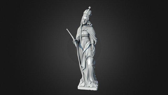Madona Sculpture 3D Model