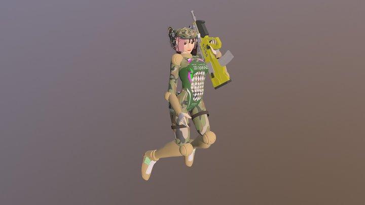 時空潮汐力駆逐艦・浦風 3D Model