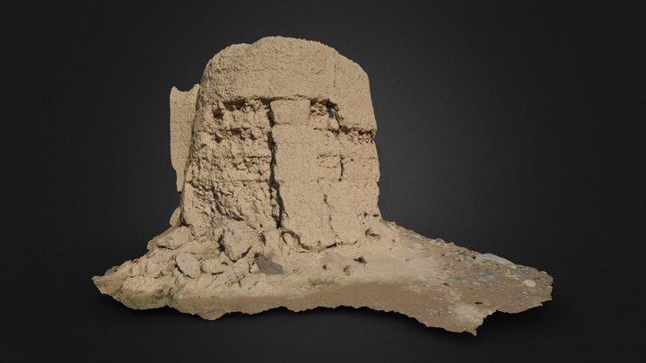 Old Castle wall 3D scan 3D Model