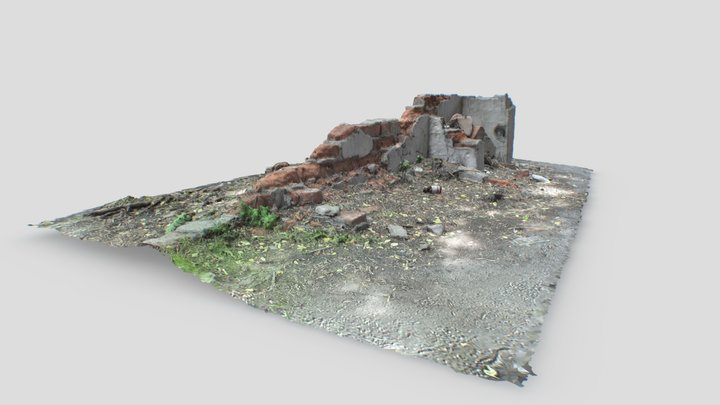 FREE Ruined Wall [3D Scan] 3D Model