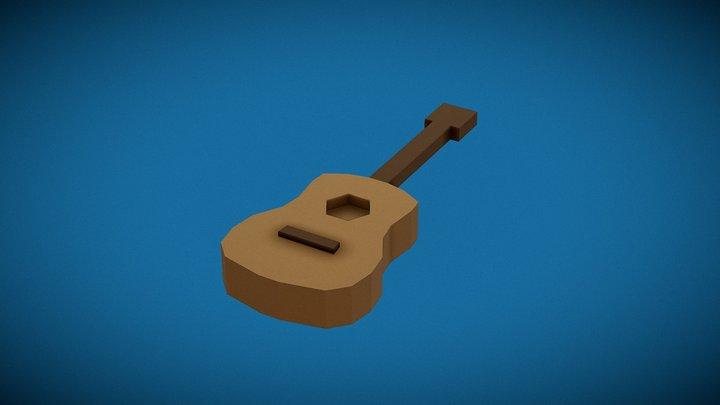 Minimalist Guitar 3D Model