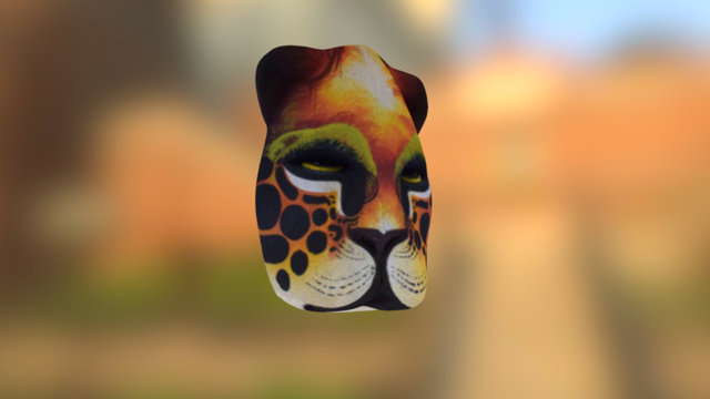 Photogrammétrie - Masque de jaguar tribu Boruca 3D Model
