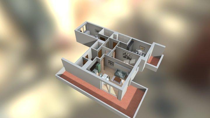 Pomieszczenie 80M 3D Model