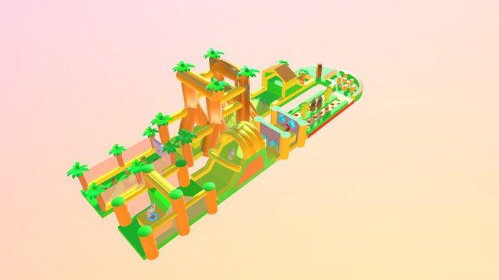 Mega Jungle Stormbaan 72m 3D Model
