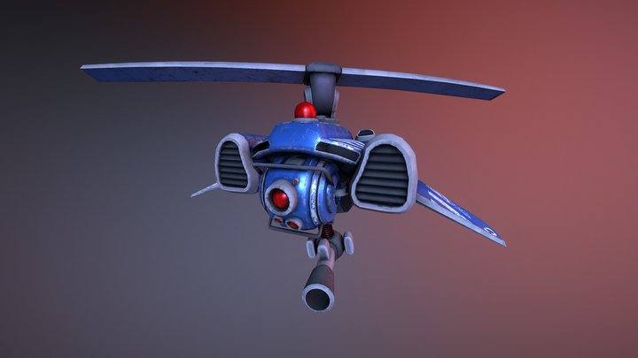 Flying Enemy 3D Model