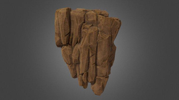 Stylized Modular Rock 3D Model