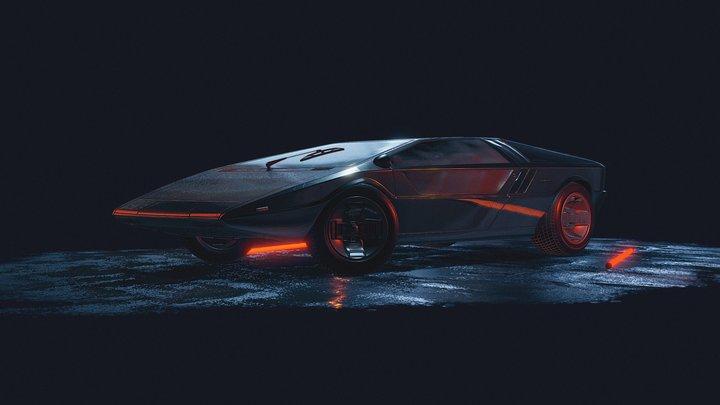 Maserati Boomerang Scene 3D Model