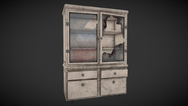 Asylum Medical Cabinet 3D Model