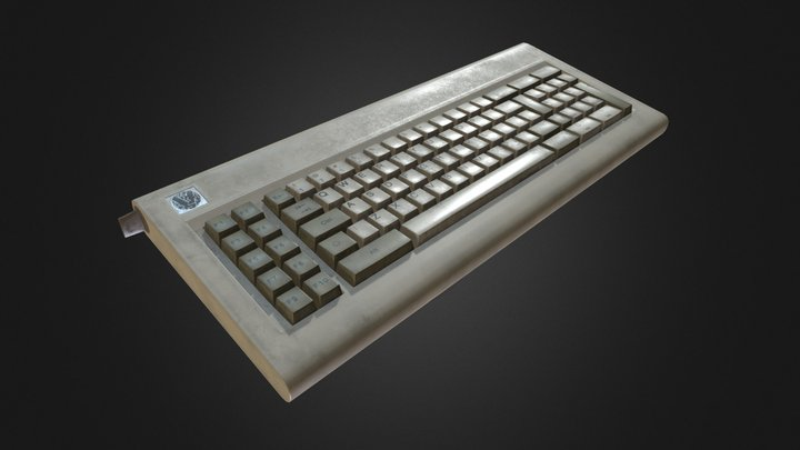 80's Personal Computer Keyboard 3D Model