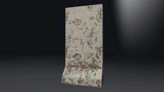 Concrete Barrier (vertical) 3D Model