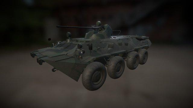 BTR 80A 3D Model