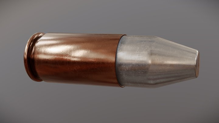 9x19mm (Luger/Parabellum) cartridge - (DWM) 1913 3D Model