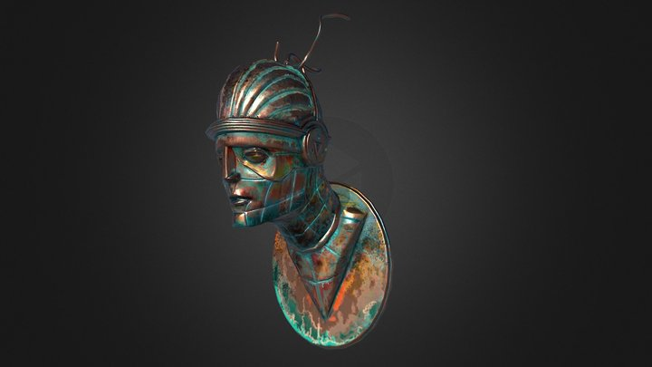 Copper sculpture 3D Model