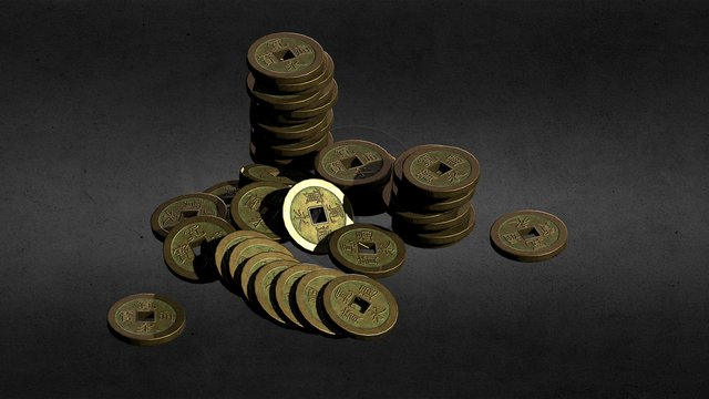 Pile of coins 3D Model