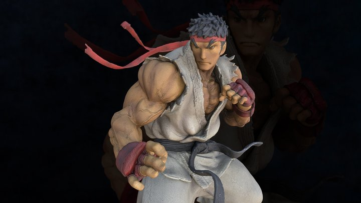 Ryu 3D Model