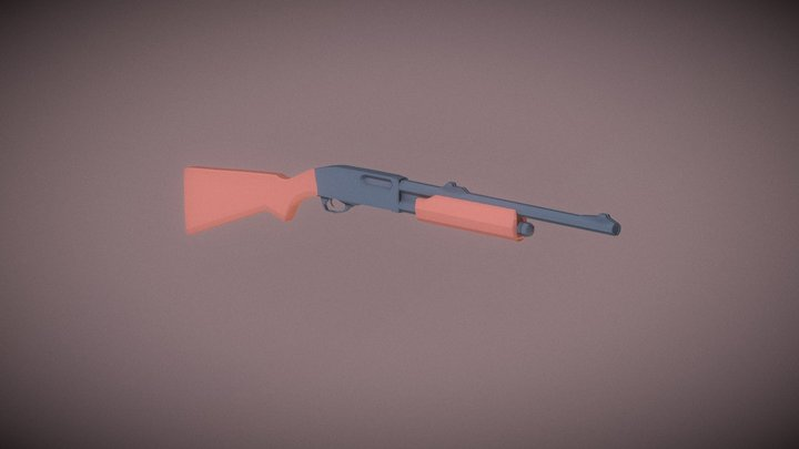 Low-Poly: Remington 870 Express 3D Model