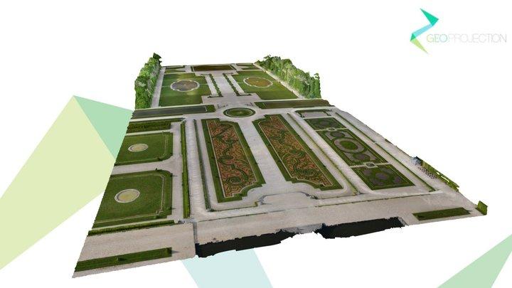 Jardin de château 3D Model