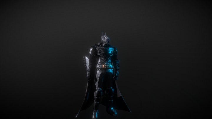 Batman baron the dark knight (lowpoly) 3D Model