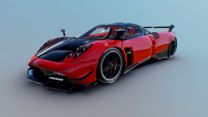 Pagani Huayra-BC | Metallic Red | 3D Model