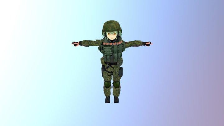 ВС РФ аниме для VRCHAT 3D Model