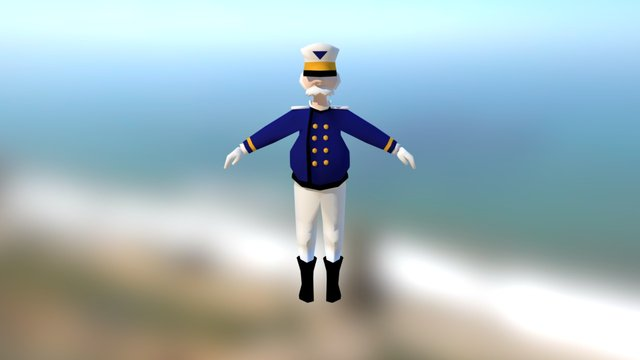 Captain [Lowpoly] 3D Model