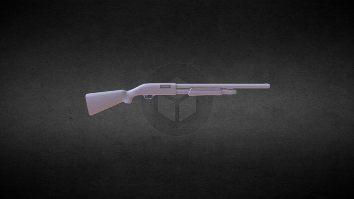 Shotgun Remington 870 3D Model