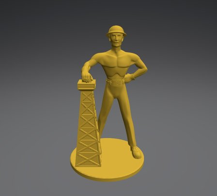 Golden Driller 3D Model